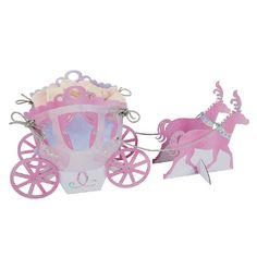 Meri Meri Disney Princess Treat Carriage Decorate your princess party with this fantasy carriage for holding treats. Easy to assemble, simply tie the silver ...
