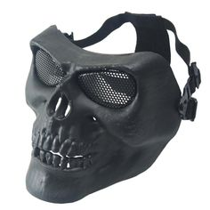 Skull Skeleton Face Protective Mask for Halloween Party Airsoft Mask Face Mask Hunting Tactical Outdoor CS Party Face Mask Paintball Mask, Airsoft Mask, Skull Mask, Skull Head, Pimple Mask, Party Face Masks, Mask Party, Skeleton Face, Metal Skull