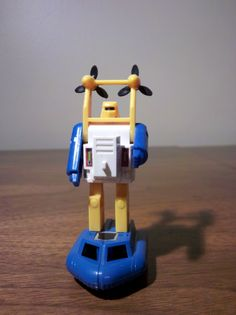 """Seaspray. He talked like he had a mouth full of bubbles. He fell in love and turned into a merman. He was probably in more episodes than he wasn't. All from what amounts to be a pretty average toy. The model gets points for being very fast to transform. I think I bought Seaspray with allowance money on a Saturday at Children's Palace. That was the best place to be! The small autobots on cards were on a display, and they mostly had Cliffjumper and Gears. All the """"good"""" ones were taken!"""