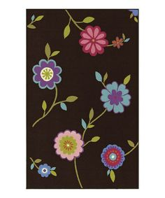 Take a look at this Chocolate Floral 4-Ever Young Rug by Dalyn on #zulily today!