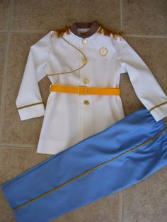 Prince Charming Children's Costume White by ANeedlePullingThread