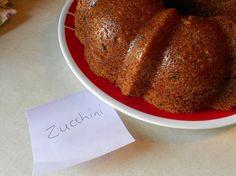 Honeyed zuchini bread in bundt pan