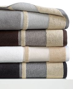 "Kassatex Bath Towels, Saville 18"" x 28"" Hand Towel - Bath Towels - Bed & Bath - Macy's"
