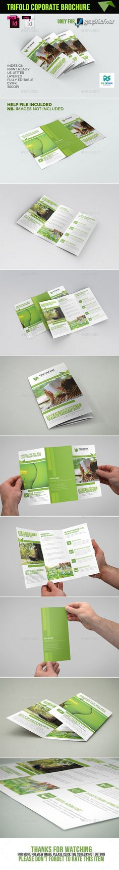 Trifold Brochure Template InDesign INDD. Download here: https://graphicriver.net/item/trifold/17226109?ref=ksioks