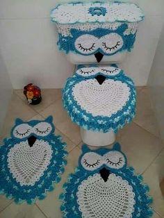 Owl Crochet Rug Pattern The Cutest Ideas Owl Crochet Patterns, Crochet Owls, Owl Patterns, Crochet Home, Crochet Gifts, Cute Crochet, Crochet Doilies, Crochet Stitches, Knitting Patterns