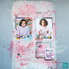 Oh I love the then and now aspect of this layout and the fact that she is totally playing it up in the photo - absolutely makes the layout for me Lorena de nuestro DT para el nuevo Scrapbook Layouts, Scrapbooking, Color Pairing, Oh My Love, Layout Inspiration, How To Make, Crafts, Ideas, Design Inspiration