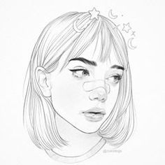 how to draw flower Girl Drawing Sketches, Cool Art Drawings, Pencil Art Drawings, Realistic Drawings, Easy Drawings, Drawing Ideas, Cartoon Kunst, Cartoon Art, Aesthetic Drawing