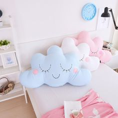 d7148ae2f14 Cute Cloud Shaped Pillow Cushion Plush Toy Bedding Home Decoration Gift  Natural