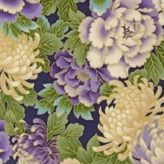 Old fashioned lavender and cream floral pattern... a beautiful type 2 print design, and palette inspiration