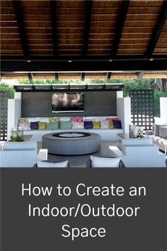 Create an indoor/outdoor space you love. Use these tips to build or re-design your porch or patio so you can enjoy every minute in the sun. Outdoor Seating Areas, Outdoor Spaces, Outdoor Living, Outdoor Gazebos, Indoor Outdoor, Outdoor Decor, Outdoor Office, Gazebo Ideas, Outdoor Curtains