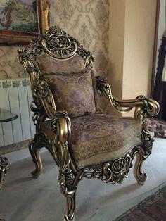 Baroque Armchair...Mocha Taupe