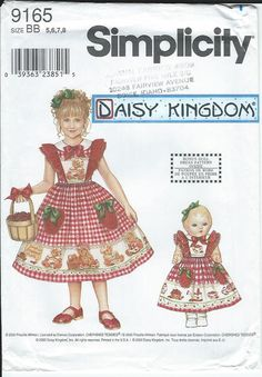 9165 Girl and Doll Dress Pattern from Daisy by ShopforaPurpose