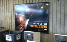 There is a FRUTIVALE STATION poster in the BART Fruitvale Station (Photo: Peter Hartlaub/The Chronicle)  http://blog.sfgate.com/thebigevent/2013/07/10/theres-a-fruitvale-station-movie-poster-at-fruitvale-station/