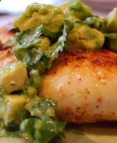Seared Chicken with Avocado by The Sisterhood of the Shrinking Jeans LLC. Cant get enough of these avocado recipes!