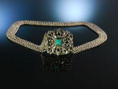 Zum Dirndl! Hübsche Trachten Kropfkette Trachten Kette Silber 835 5reihig München um 1950, traditioneller Trachtenschmuck bei Die Halsbandaffaire