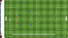 Ejercicio de fútbol para tus entrenamientos - tres cambios juego más centro