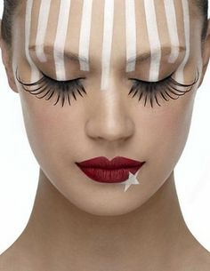 the buzz blog - stars and stripes  Fun make-up for Sarah Pie for Halloween
