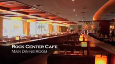 Rock Center Cafe by Red7 Media. With views of the landmark ice rink and Manhattan cityscape, Rock Center Café boasts a series of original Warhol prints in its popular bar and one of the most memorable settings imaginable for dining and entertaining.