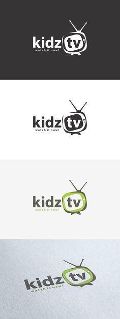 Kidz TV Logo Brand Design, Logo Design, Pet Branding, Logo Tv, Name Logo, Kids Tv, Kids Logo, Design Inspiration, Names