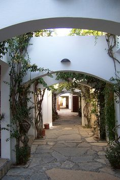 Arches on the streets of Bodrum, Turkey i have been there and it is just like on the picture!