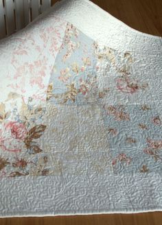 shabby chic quilts | ... Shabby Chic Quilt, Reversible Infant Photography Prop Quilt, Heirloom