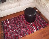 Pendleton Wool Rug Handwoven Red, Gray, White, Black 32x54