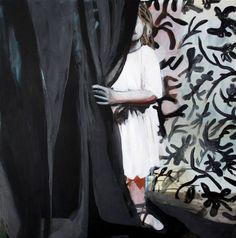 "Saatchi Art Artist Hanna Ilczyszyn; Painting, ""behind the curtain"" #art"