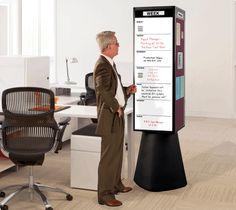 Rotating Whiteboard Kiosk | Free Standing Display Board | Rotocube