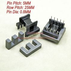 5sets/lot EE30 PC40 Ferrite Magnetic Core and 5 Pins + 5 Pins Side Entry Plastic Bobbin Customize Voltage Transformer #shoes, #jewelry, #women, #men, #hats, #watches