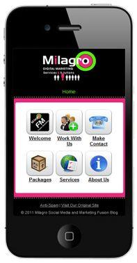 Mobile Website Design Templates   Icon Navigation