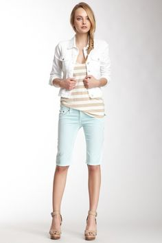 LOVING BERMUDA SHORTS! Easy to dress up and dress down! Cherock Bermuda Short by Stitch's on #Spring #Fashion