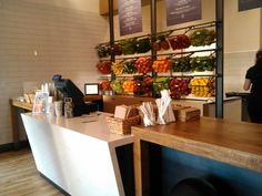 Like the look and accessibility of the fruit/vegetable storage behind the counter.