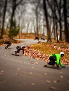 downhill longboarding -  I love this shot!