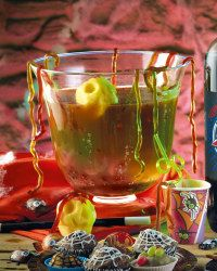 Double, double, toil and trouble…this alcohol-free Bubblin Cauldron punch bowl recipe will have everyone screaming for more this Halloween.