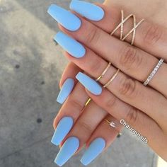 Matte Nägel 67 Beste Matte Nägel 35 + 2019 Hot Fashion Coffin Nail Trend Ideas # nails # … – Nagelmodelle, You can collect images you discovered organize them, add your own ideas to your collections and share with other people. Periwinkle Nails, Blue Nails, Dark Nails, Manicure, Gel Nails, Nail Polish, Summer Acrylic Nails, Summer Nails, Acrylic Nail Designs