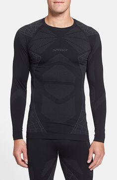 PKAWAY Mens Long Sleeve Compression Atheletic Shirt Base Layer Under Shirt