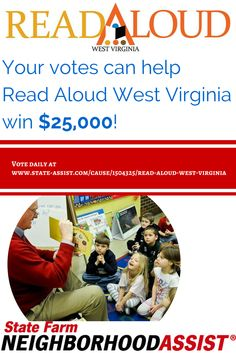 Read Aloud WV could win $25K with your help! Vote on Facebook through June 3, 2015!
