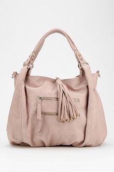 Ecote Tasseled Vegan Leather Hobo Bag