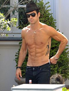 Justin Theroux. The whimpering noise I made when I saw this was very unnatural.