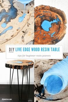 31 Indoor Woodworking Projects to Do This Winter DIY Live Edge Holz Harz Tisch Diy Resin Wood Table, Epoxy Resin Table, Diy Epoxy, Diy Resin Art, Diy Resin Crafts, Wood Crafts, Diy Resin Furniture, Wood Tables, Diy Resin Inlay