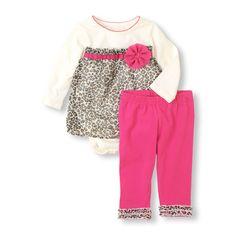 Leopard Bodysuit & Leggings Set