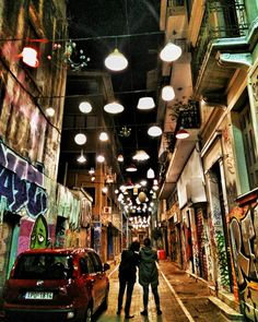 Athens at night is a full on party city. Lots of travel guides have been calling it the city which never sleeps which to be fair they call a LOT of places. But in Athens this description might actually be true. One euro house wine lots of options and ooof I may have overdone it last night. But when in Greece eh? #traveldiary