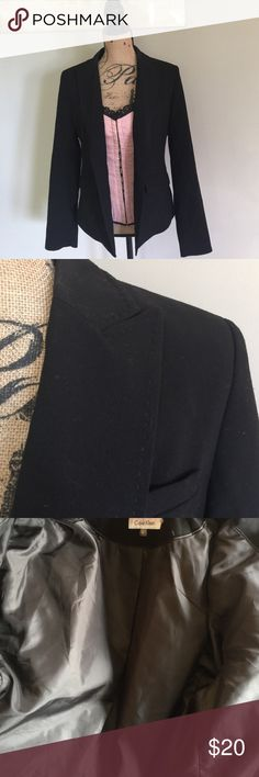 Calvin Klein Fitted Blazer Gently used. No stains, rips, nor tears. Smoke free pet free home. (Corset in separate listing!) Calvin Klein Jackets & Coats Blazers
