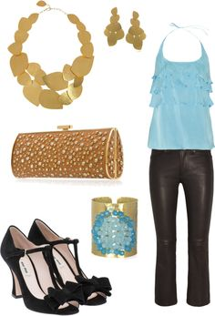 """""""Blue and gold"""" by jossiebristow on Polyvore"""