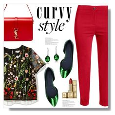 """Curvy Style"" by queenvirgo ❤ liked on Polyvore featuring Jennifer Bryde, Étoile Isabel Marant, Yves Saint Laurent, Glitzy Rocks and Guerlain"