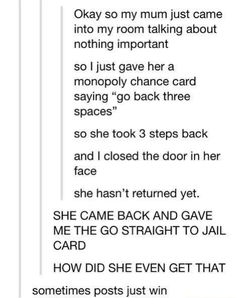 This sounds like my mom