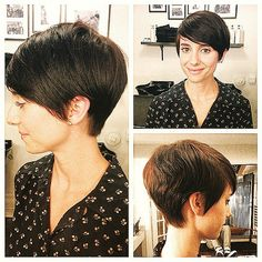 Liberated salon - Los Angeles, CA, United States. Pixie by Brandon on or new stylist Reagan! Short Hair With Layers, Layered Hair, Short Hair Cuts, Pixie Cuts, Short Pixie, Pixie Hairstyles, Pixie Haircut, Cute Hairstyles, Medium Hair Styles