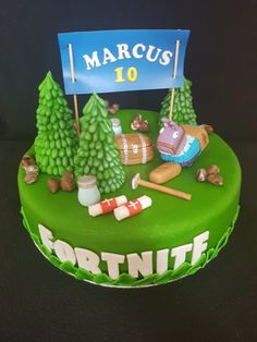 Fortnite birthday cake / verjaardagstaart Cupcakes, Cupcake Cakes, Ps4 Cake, Birth Cakes, Video Game Cakes, Snowman Cake, Themed Birthday Cakes, Birthday Cake Decorating, Candy Party
