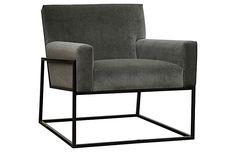 Curtis Accent Chair, Gray Velvet $1,650.00