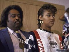 Tawana Brawley accuses six white men of rape, igniting a racial firestorm that would result in her reputation being permanently tarnished and paint her advisor, Al Sharpton, as an opportunist. #1988